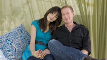 Quality time ... Richard Roxburgh and Silvia Colloca at Bear Cottage in Manly.