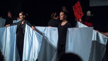 Margaret River Senior High School students perform the The Laramie Project.