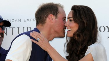 Gift to remember  ... The Duke and Duchess of Cambridge in the US this month.