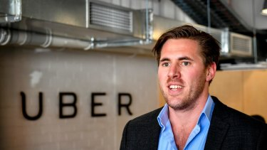 Uber's Victorian general manager, Matt Denman. The company says it does not expect the protest to hurt its operations.