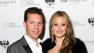 Happy couple ... Holly Valance and Nick Candy.