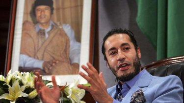 Plot foiled ... Al Saadi Gaddafi, the third son of Libyan leader Muammar Gaddafi.