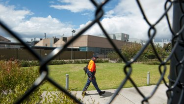 Holden workers leaving the Port Melbourne plant on the day they found out production would cease at the plant in 2017.