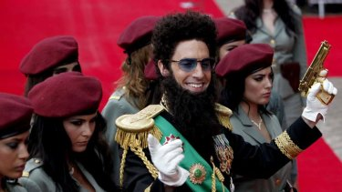 """""""Where there is humour it seems to primarily be at our [the Arabs'] expense"""" ... Sacha Baron Cohen plays Admiral General Haffaz Aladeen in his upcoming film <i>The Dictator</i>."""