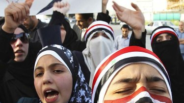 Campaign continues ... Syrian protesters in Amman, Jordan, call for Bashar al-Assad to step down.