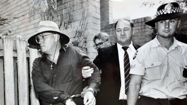 The arrest of the Colin Winchester murder suspect, David Harold Eastman, at his Reid flat in 1992.