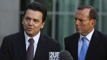 Tony Abbott's Coalition government will need to negotiate a senate that includes Labor, the Greens, the Palmer United Party and others, such as independent senator Nick Xenophon.   2N1C0404.JPG