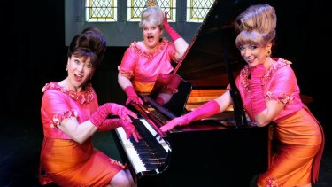 The Fabulous Singlettes. From left Naomi Eyers, Melissa Langton and Diane Dixon.