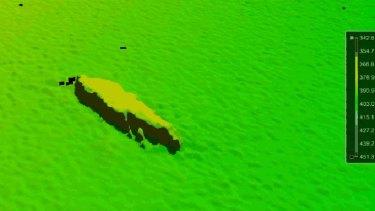 Watery grave: a sonar image of HMAS Australia.