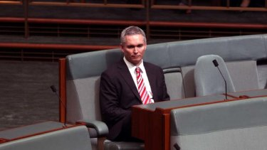 Isolation … Craig Thomson in Parliament this week.