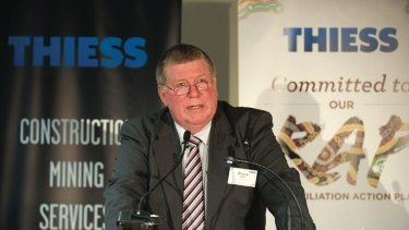 Former Thiess managing director Bruce Munro.