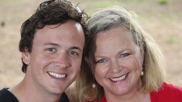 Blair with his mother  Lyndey  for their SBS show  'Lyndey & Blair's Taste of Greece'.