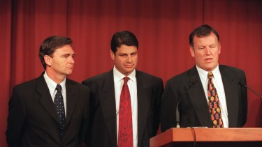John Brumby, former  Victorian premier Steve Bracks, and attorney general Rob Hulls.