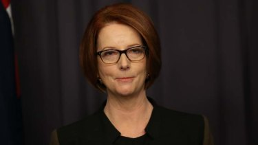 Quitting politics: Julia Gillard.