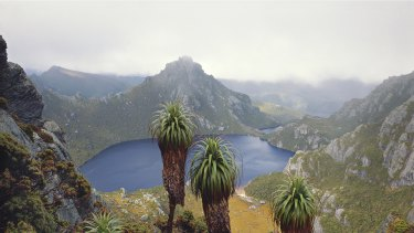 Lake Oberon, Western Arthur Range, south west Tasmania, 1988.