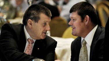 """""""Mr Packer wants to install the former Victorian premier Jeff Kennett (left) on Echo's board."""""""