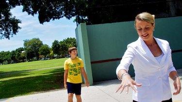 Hoop dreams ... Kristina Keneally is walking away from politics.