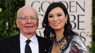 Rupert Murdoch and his then wife Wendi Deng in 2011.