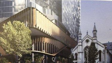 An artists' impression of the 350 Queen Street development.