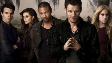 Claire Holt (far right) takes leave from vampire series <i>The Originals</i>, which co-stars fellow Australian Phoebe Tonkin (left).