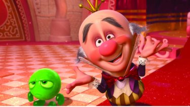 King Candy, voiced by Alan Tudyk, in the critically acclaimed animated film Wreck-It Ralph.