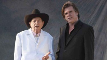 Subject and narrator ...  Chad Morgan (left) with Tex Perkins.