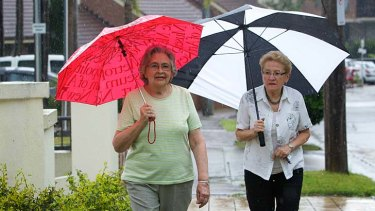 Valda Leate (left) is very happy where she lives, with one exception - public transport.