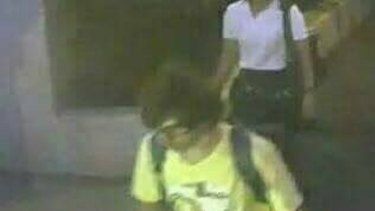 A CCTV image shows a man near the site of Monday night's bomb attack in Bangkok shortly before the blast.