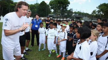 Former Premier League soccer star Steve McManaman was among a bevvy of football stars to meet locals in Kuala Lumpur.