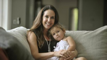 Boost juice founder Janine Allis at her Melbourne home with daughter Tahlia.