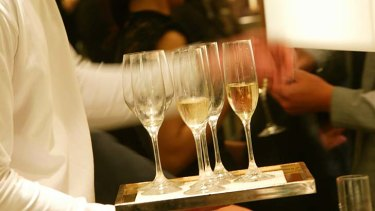 Bottoms up: Australians are drinking champagne at record levels.