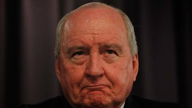 Tirade … broadcaster Alan Jones let rip against women.