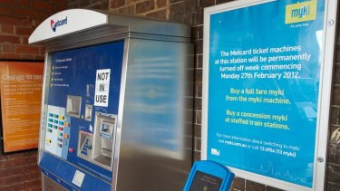 Removing metcard machines will force once-off public transport users to buy a Myki card.