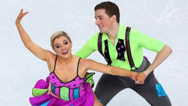 Danielle O'Brien and Greg Merriman compete in the final.