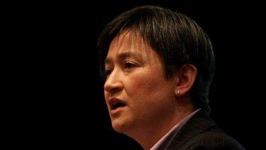 Pushing for legislative change ... Penny Wong addresses the Rainbow Labor Conference.