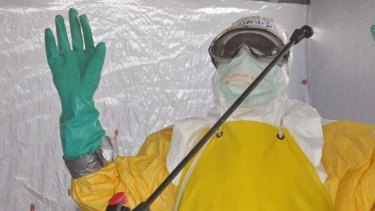 Most people became aware of Ebola from horrifying images of health workers in hazmat suits.
