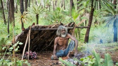 Charlie (David Gulpilil) goes bush to live in a more traditional way, but can't get by through the wet season in 'Charlie's Country'.