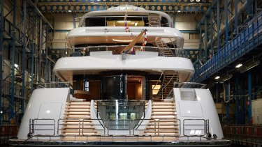 Aussie John Symond's new superyacht.