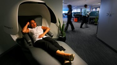 "Many companies are installing ""nap pods"" to encourage staff to recharge via a quick snooze."