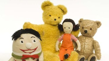 Stuffing of legends … (from left) Play School''s Humpty, Big Ted, Jemima and Little Ted.