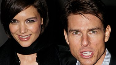 Friends in high places ... Tom Cruise and Katie Holmes will enjoy James Packer's hospitality from the 39th floor of Crown Towers in Melbourne.