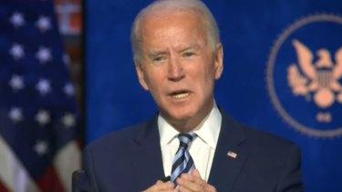 Joe Biden has said he will seek a 100-day mask mandate once he is elected president.