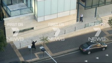 Farhad Jabar in a shootout with police in front of NSW Police headquarters at Parramatta.