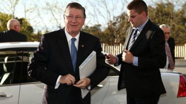 Victorian Premier Denis Napthine arrives for the Council of Australian Governments meeting at Parliament House in Canberra