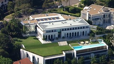 The $100 million Packer family mansion at Vaucluse lies empty.