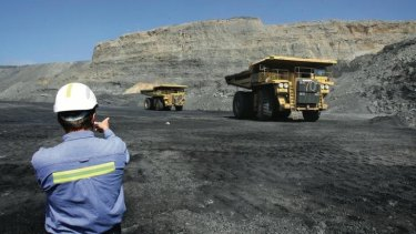Coal mining at Musswellbrook in the Hunter Valley, an area that will likely be hit hard by new Chinese regulations.