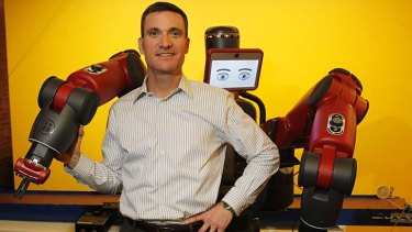 Scott Eckert, chief executive of the Rethink Robotics, defends his industry against critics who decry robots as jobs-killers.