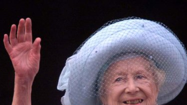 Royal innings ... the Queen Mother.