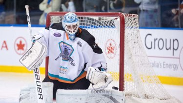 The star. Ice Dog goalie Anthony Kimlin was typically impassable during the finals series.