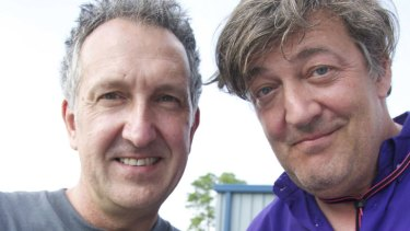 Where wild things are ... Mark Carwardine and Stephen Fry.